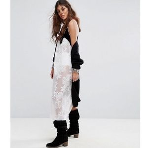 NWT Free People Ivory Love All Day Maxi Slip Dress